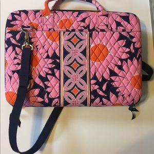 "Vera Bradley hard case computer bag ""Loves Me"""
